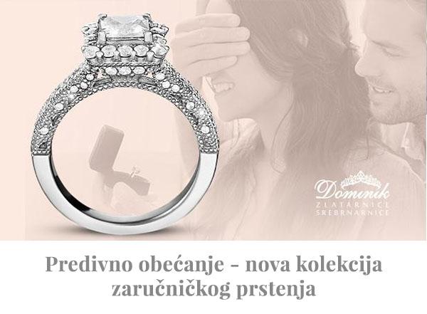 Nova kolekcija zaručničkog prstenja u Dominik srebrnarnicama